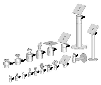 Product overview G20 and G40 mounts.